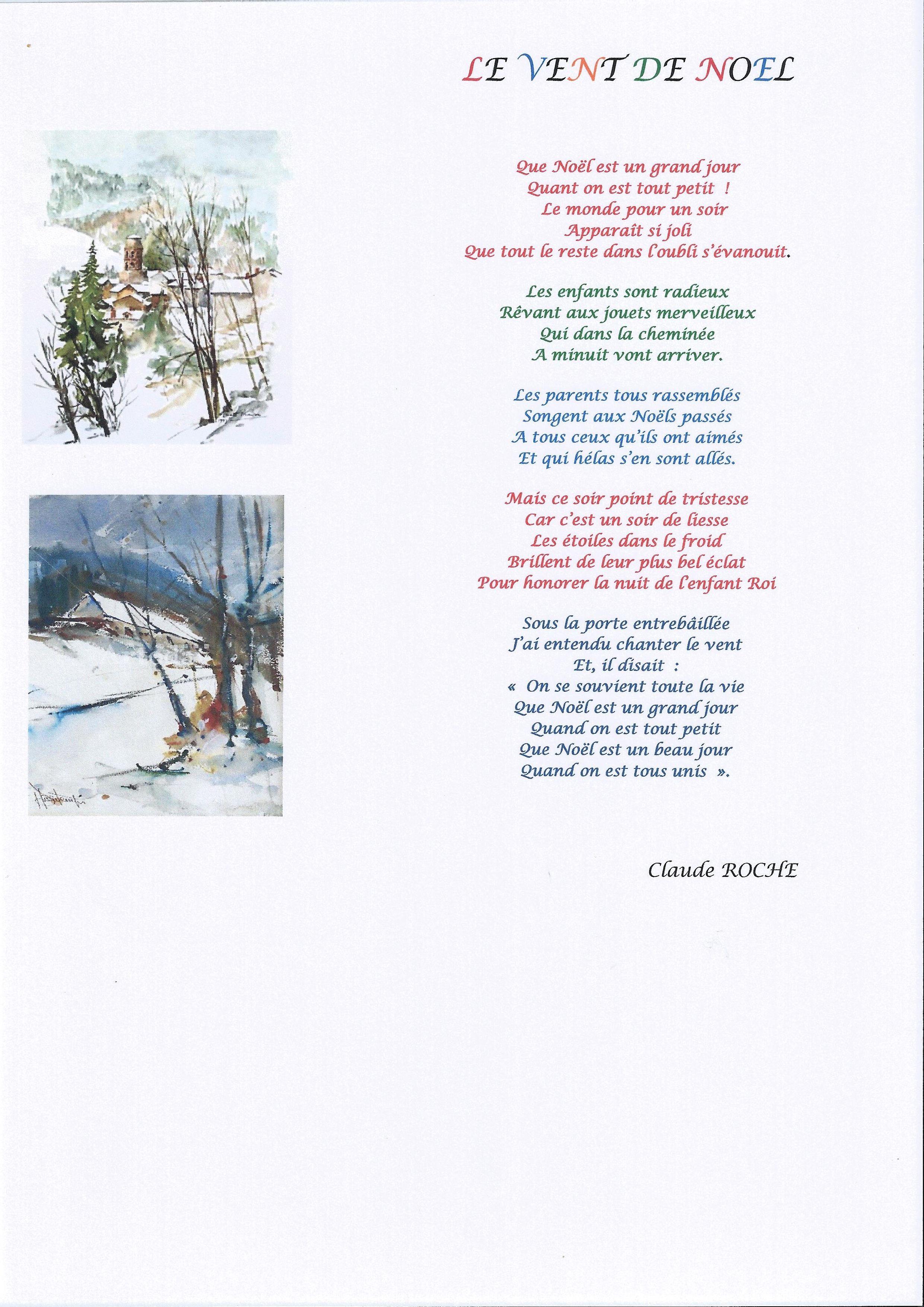 Poeme De Noel Paroisse Saint Giniez